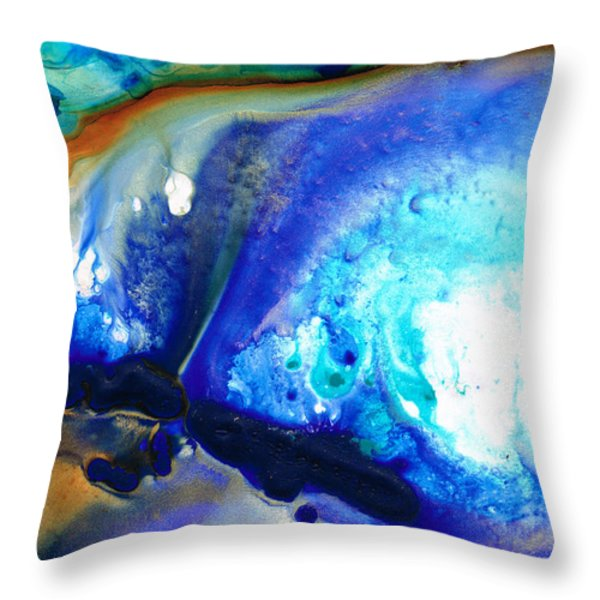 Heaven And Earth Throw Pillow by Sharon Cummings