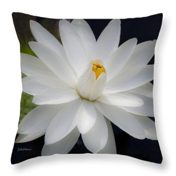 Heavenly Aquatic Bloom Throw Pillow by Julie Palencia