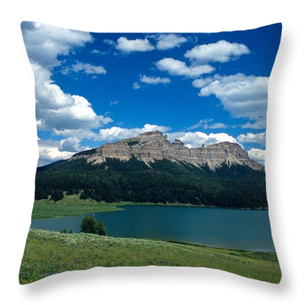 Heavenly Day Throw Pillow by Kathy Yates