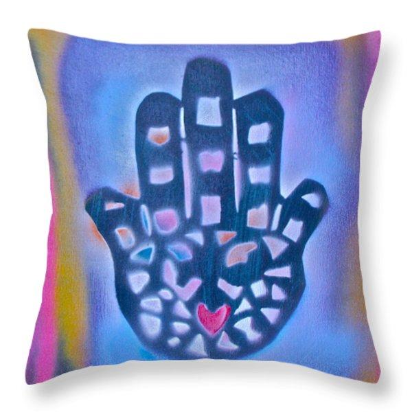 Heavenly Hamza 1 Throw Pillow by TONY B CONSCIOUS