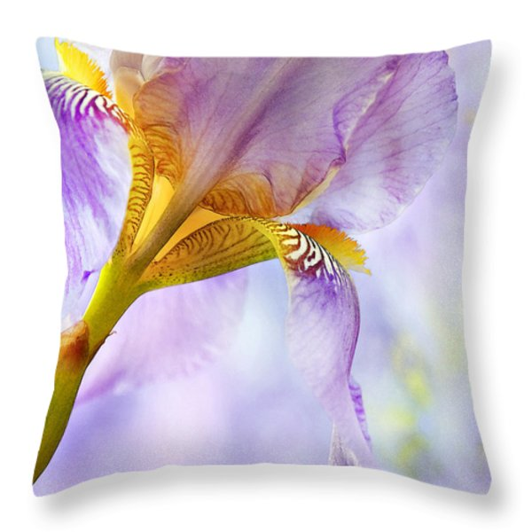 HEAVENLY IRIS 2 Throw Pillow by Theresa Tahara