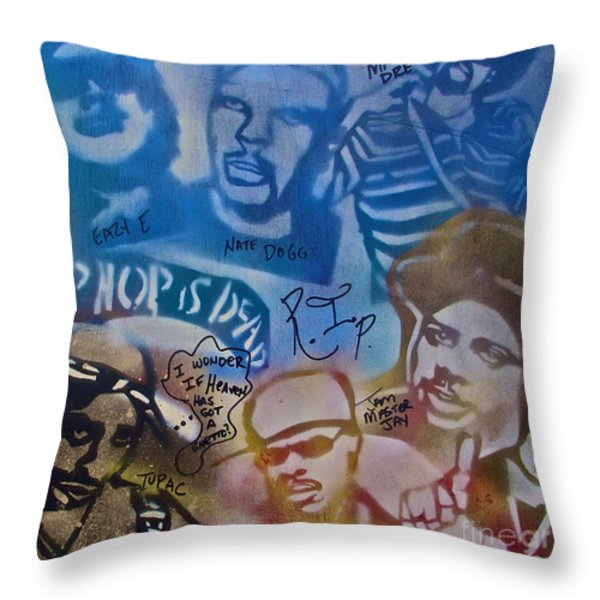 HEAVENS GHETTO 2 Throw Pillow by TONY B CONSCIOUS