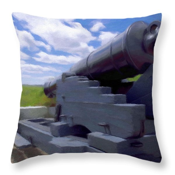 Heavy Artillery Throw Pillow by Jeff Kolker