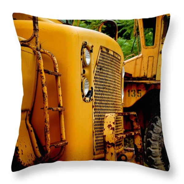 Heavy Equipment Throw Pillow by Amy Cicconi