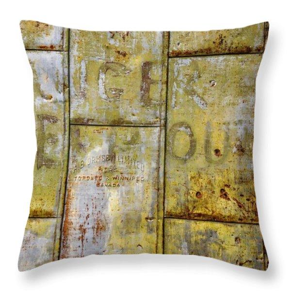 Heavy Metal Throw Pillow by Steve Harrington