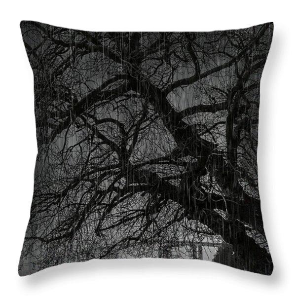 Heavy Rain Throw Pillow by Svetlana Sewell