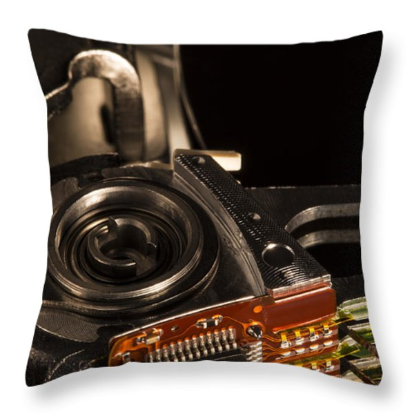 Heavy Rotation Throw Pillow by Andrew Pacheco