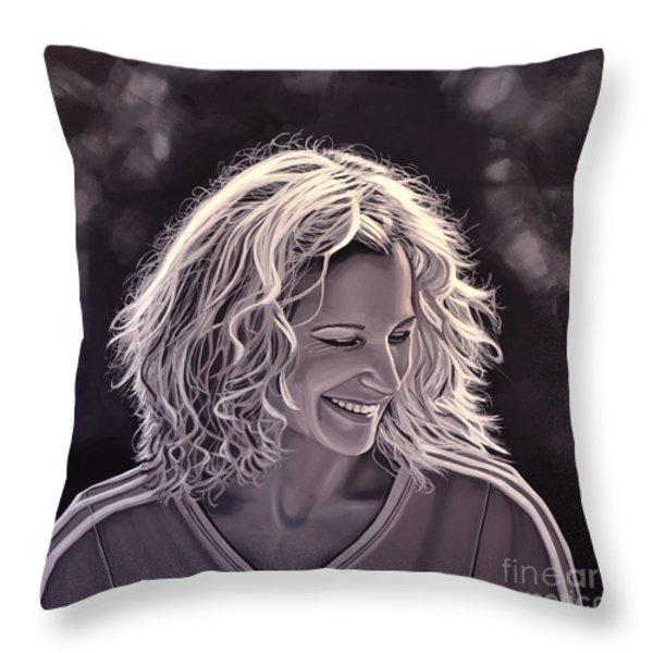 Heike Henkel Throw Pillow by Paul Meijering