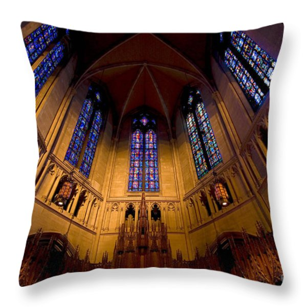Heinz Memorial Chapel Pittsburgh Pennsylvania Throw Pillow by Amy Cicconi