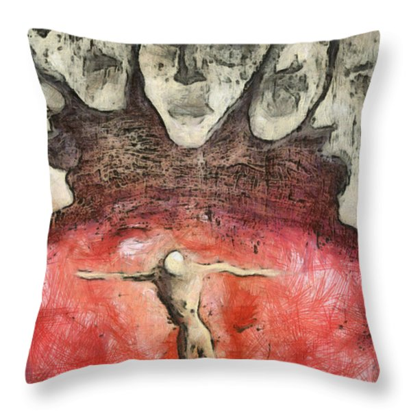 Hell Are The Others Throw Pillow by Michal Boubin