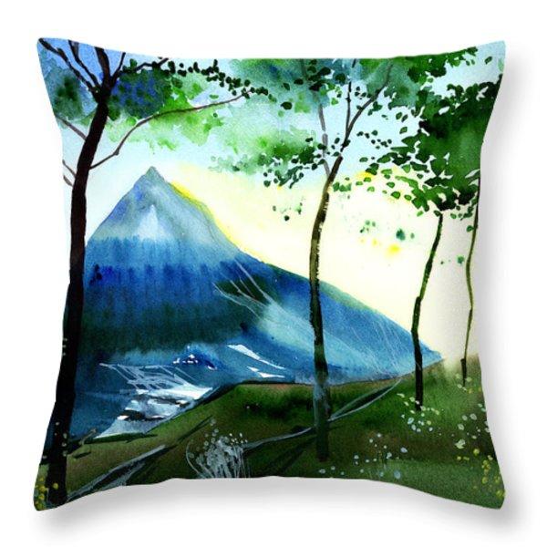 Hello Throw Pillow by Anil Nene
