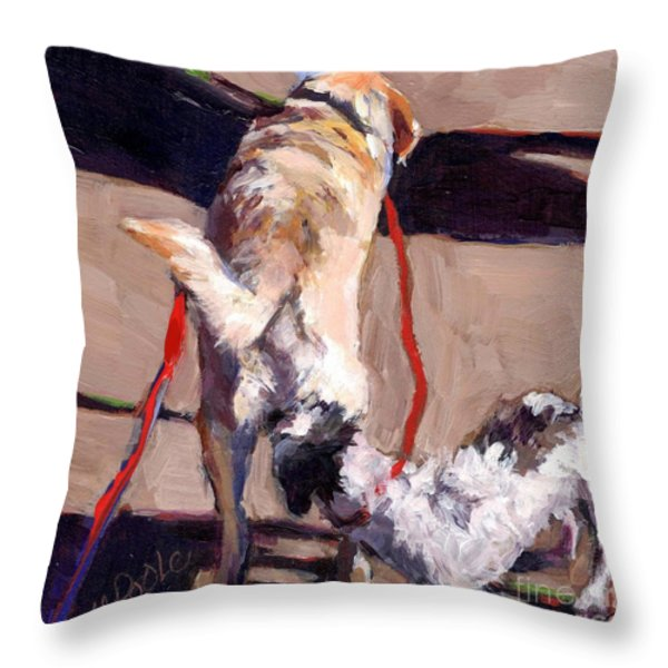 Hello Throw Pillow by Molly Poole