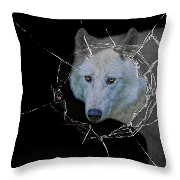 Hellouu . . . Little Red Riding Hood Throw Pillow by Joachim G Pinkawa