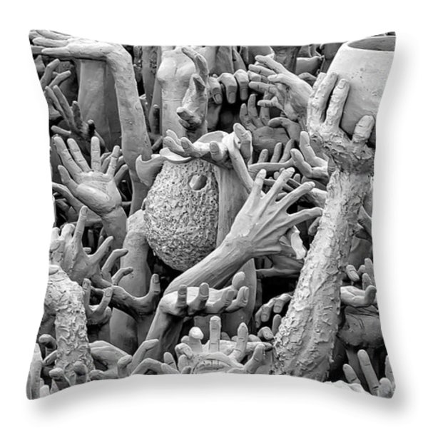 Help Throw Pillow by Adrian Evans