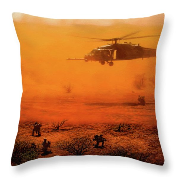 Help Arrives Throw Pillow by Dale Jackson