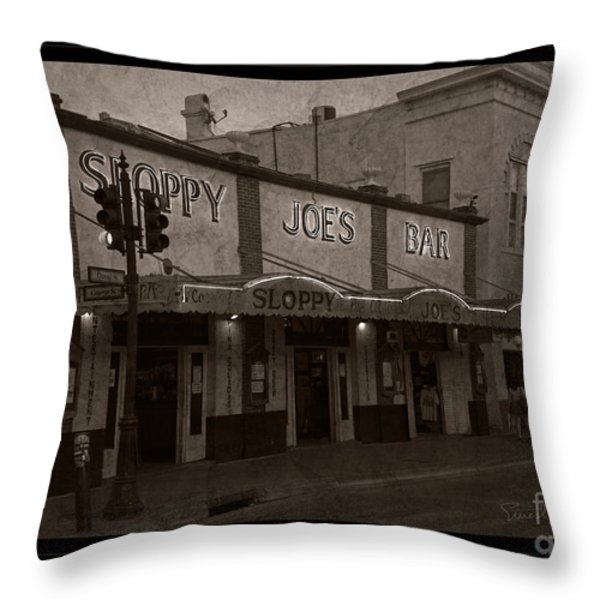 Hemingway Was Here Throw Pillow by John Stephens