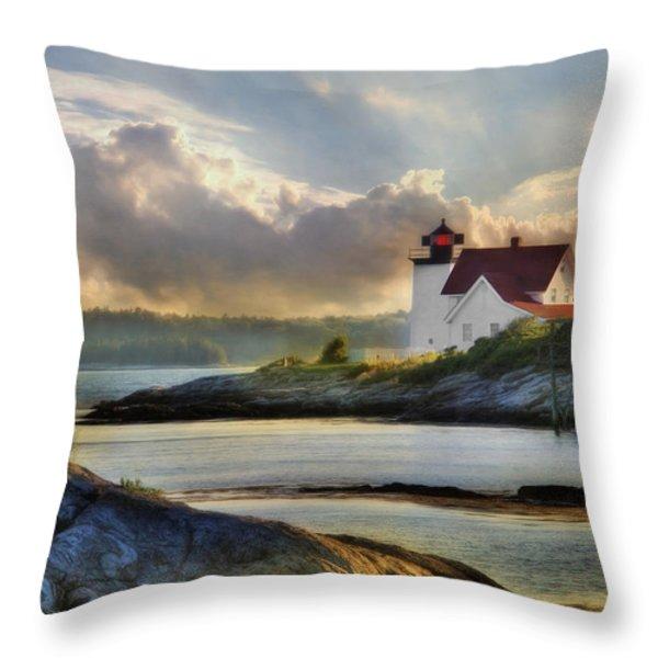 Hendricks Head Light Throw Pillow by Lori Deiter