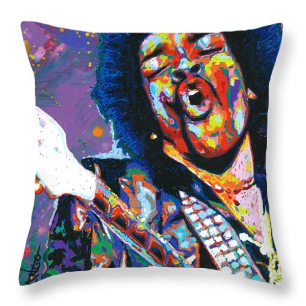Hendrix Throw Pillow by Maria Arango
