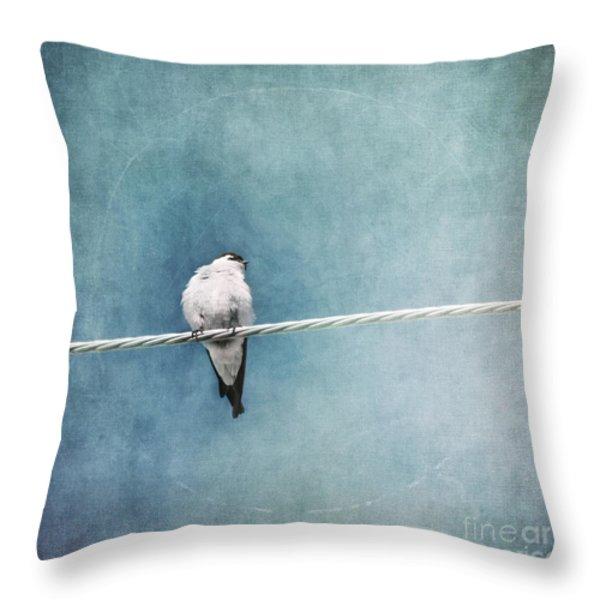 Herald Of Spring Throw Pillow by Priska Wettstein