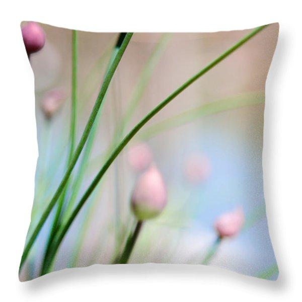 Herb Garden Throw Pillow by Kim Fearheiley