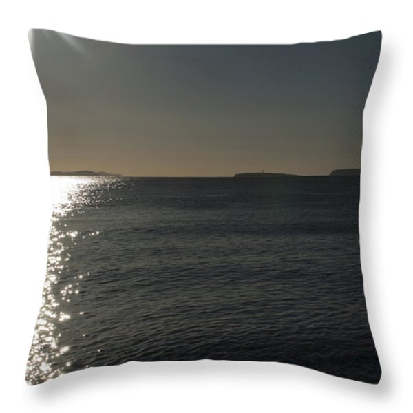 Here Comes The Sun Throw Pillow by Steve Purnell