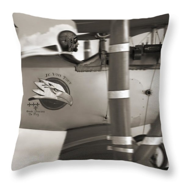Here Comes Trouble 4 Throw Pillow by Mike McGlothlen