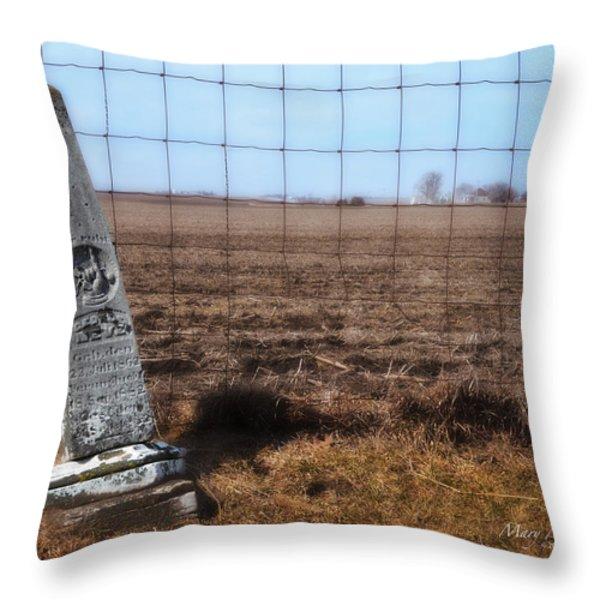 Here Lies George Neve - Walcott Iowa Throw Pillow by Mary Machare
