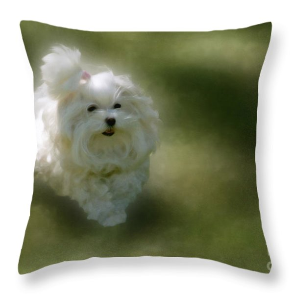 Here She Comes Throw Pillow by Lois Bryan