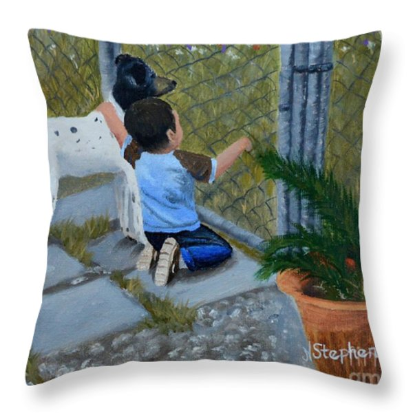 Here's The Plan Throw Pillow by Nina Stephens