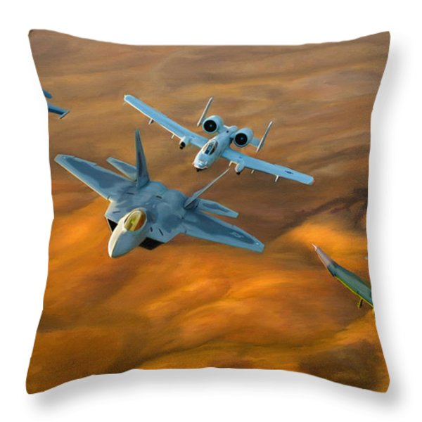 Heritage Flight II Throw Pillow by Dale Jackson