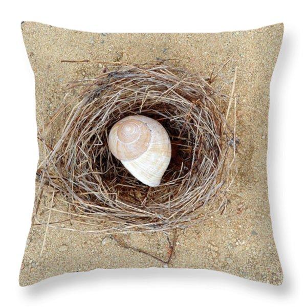 Hermit Throw Pillow by Michal Boubin