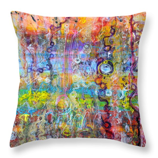 Heterotroph Hypothesis Throw Pillow by Regina Valluzzi