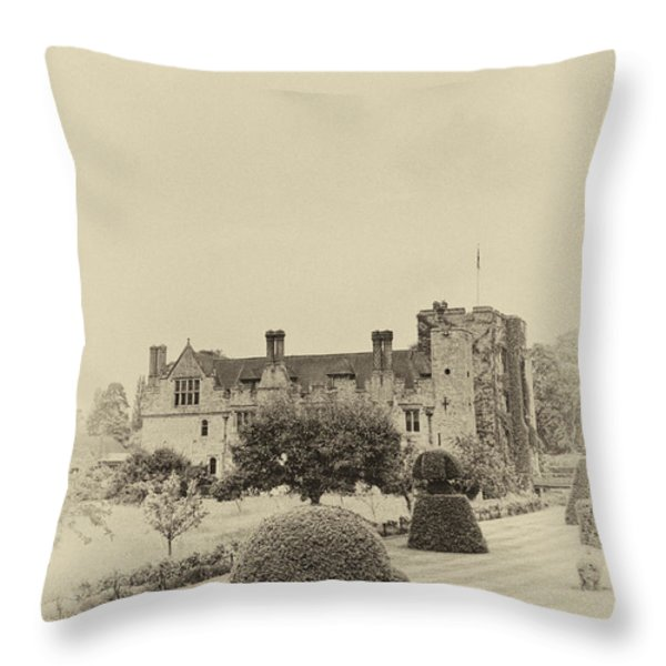 Hever Castle Yellow Plate 2 Throw Pillow by Chris Thaxter