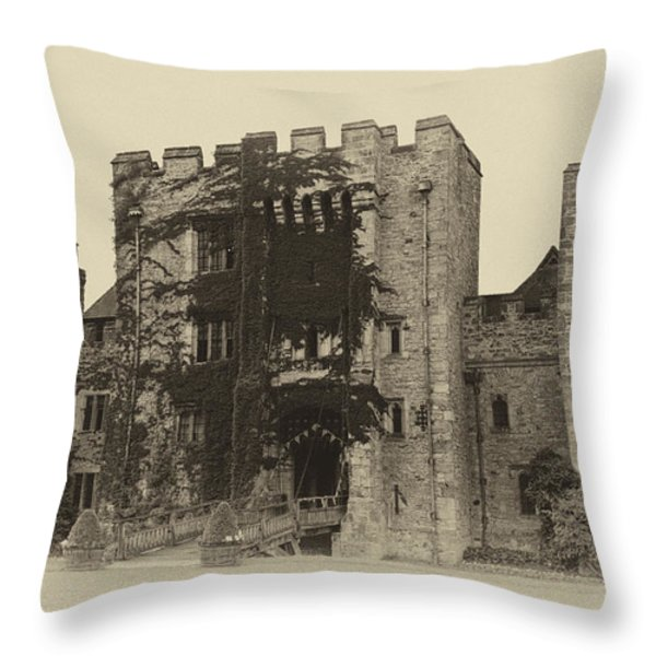 Hever Castle Yellow Plate Throw Pillow by Chris Thaxter