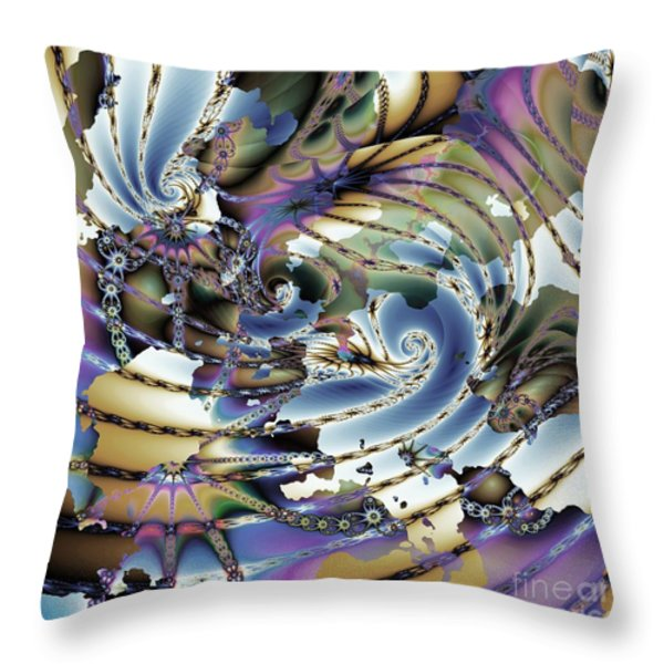 Hidden Chaos Of Order Throw Pillow by Elizabeth McTaggart