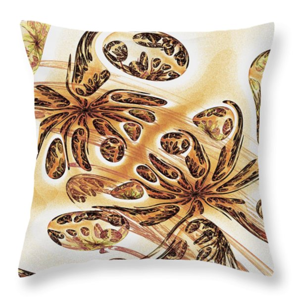 Hidden In The Sand Throw Pillow by Anastasiya Malakhova