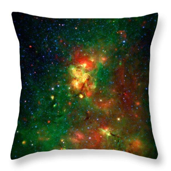 Hidden Nebula 2 Throw Pillow by The  Vault - Jennifer Rondinelli Reilly