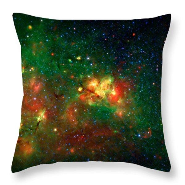 Hidden Nebula Throw Pillow by The  Vault - Jennifer Rondinelli Reilly