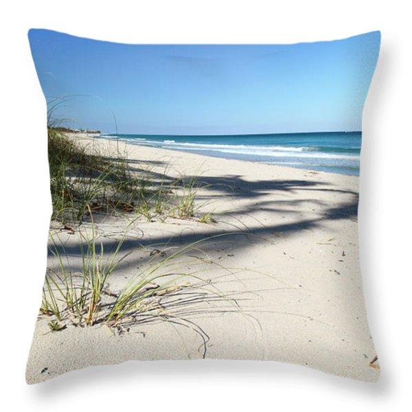 Hidden Palms Throw Pillow by Michelle Wiarda