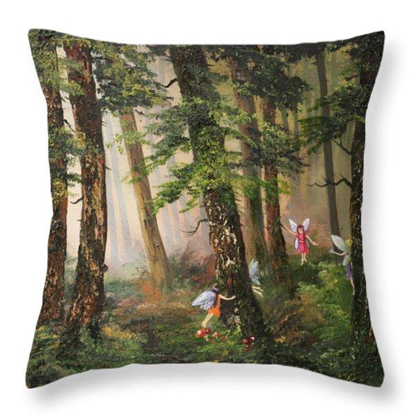 Hide N Seek Throw Pillow by Jean Walker