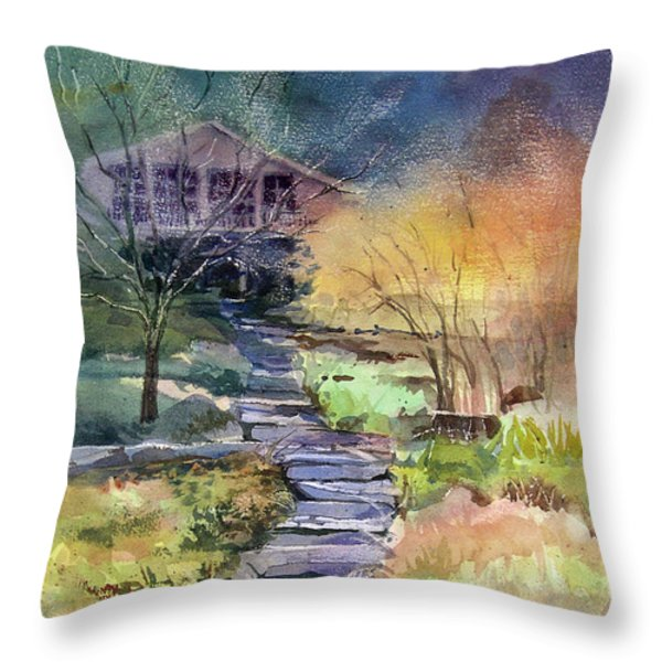 Hideaway Throw Pillow by Kris Parins