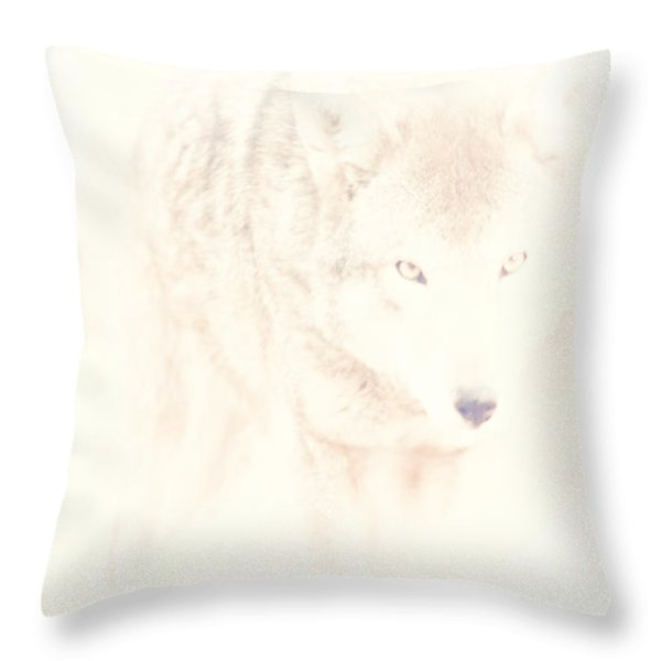 Hiding Behind Those Eyes Throw Pillow by Karol Livote