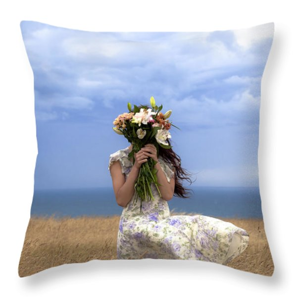 hiding Throw Pillow by Joana Kruse
