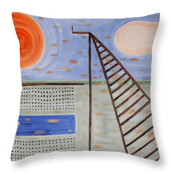 High Dive Throw Pillow by Patrick J Murphy