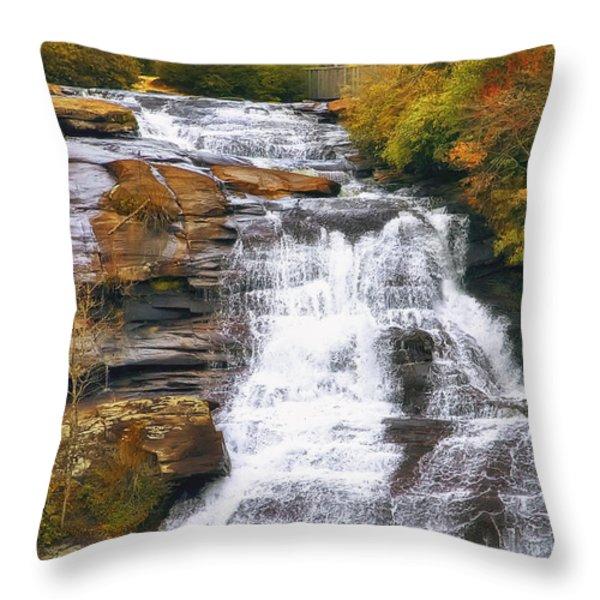 High Falls Throw Pillow by Scott Norris