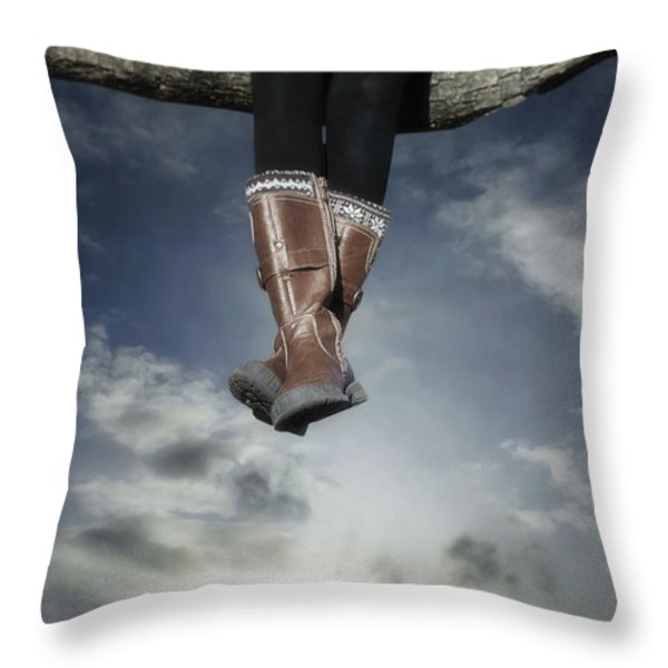 high over the world Throw Pillow by Joana Kruse