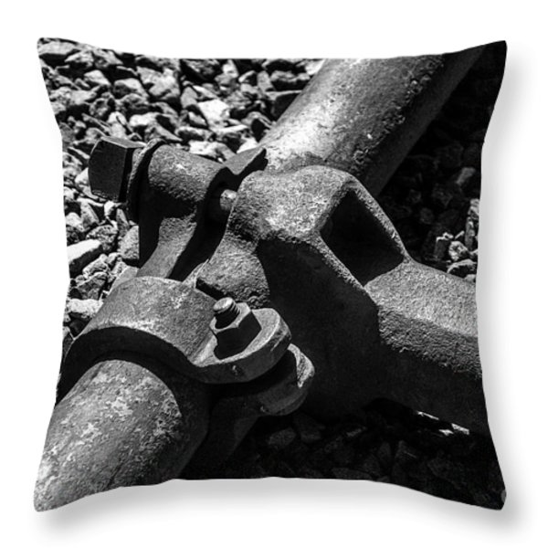 High Pressure Mining Throw Pillow by  Bob and Nadine Johnston
