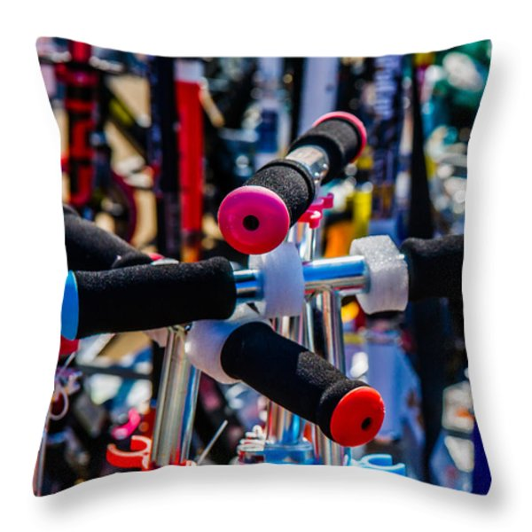 High Time To Buy A Scooter 2 Vertical Throw Pillow by Alexander Senin