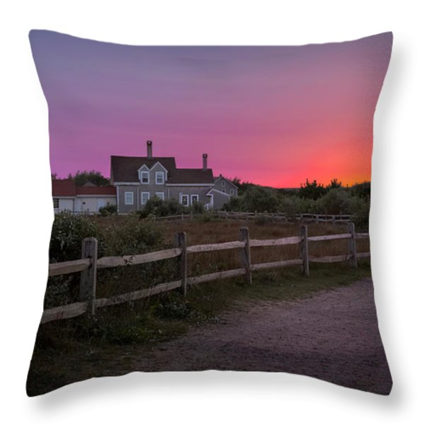 Highland Light Throw Pillow by Bill  Wakeley