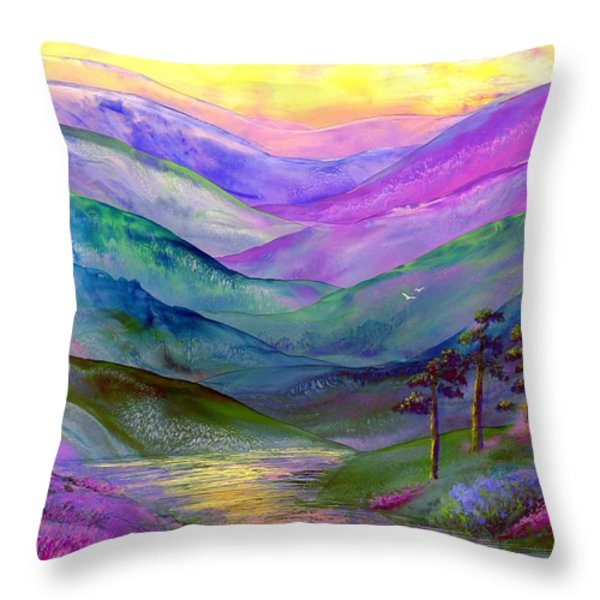 Highland Light Throw Pillow by Jane Small